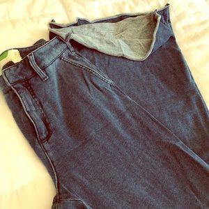 Anthropologie faux denim - sweatpants jeans
